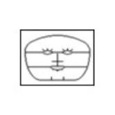 Маска коллагеновая для лица с разрезами (тип 14)